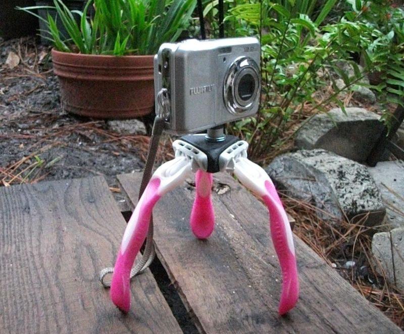diy  razor tripod for you camera