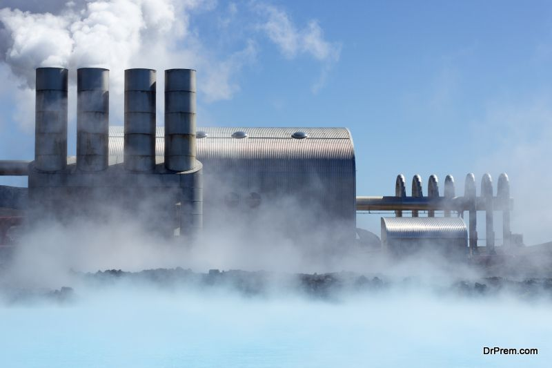 Incorporating geothermal power plants for housing complexes
