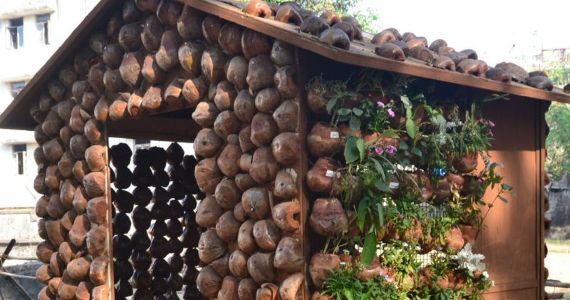 Constructing Huts Out of Coconut Shells