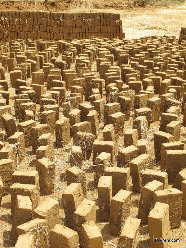 mud-bricks