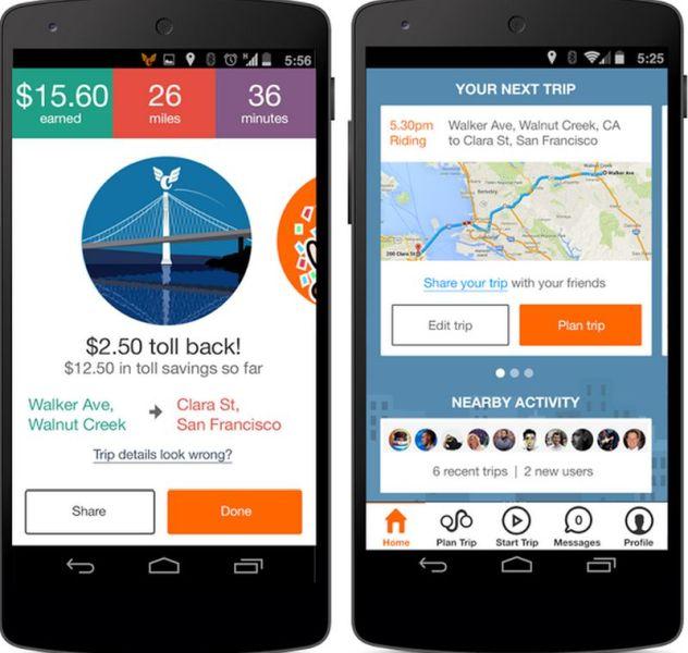 Carma Carpooling app