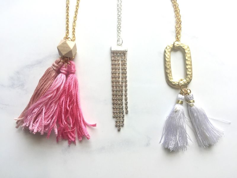 Ombre tassel diy necklace