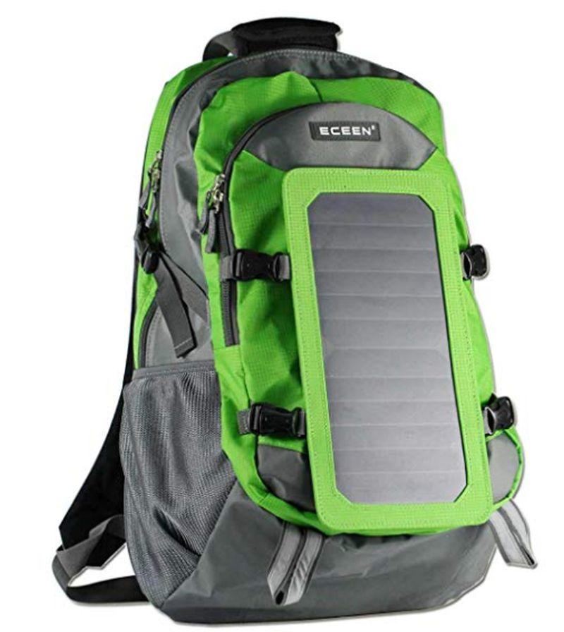 ECEEN hiking backpack with 7 watt Solar Panel