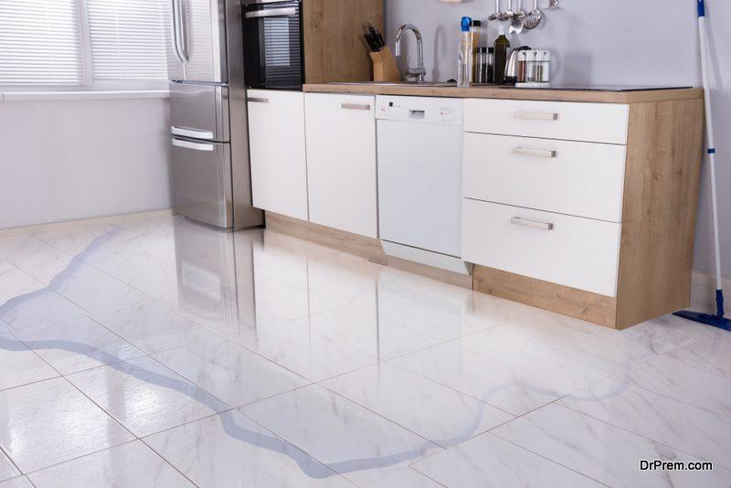 Refrigerator-leaks-water-inside