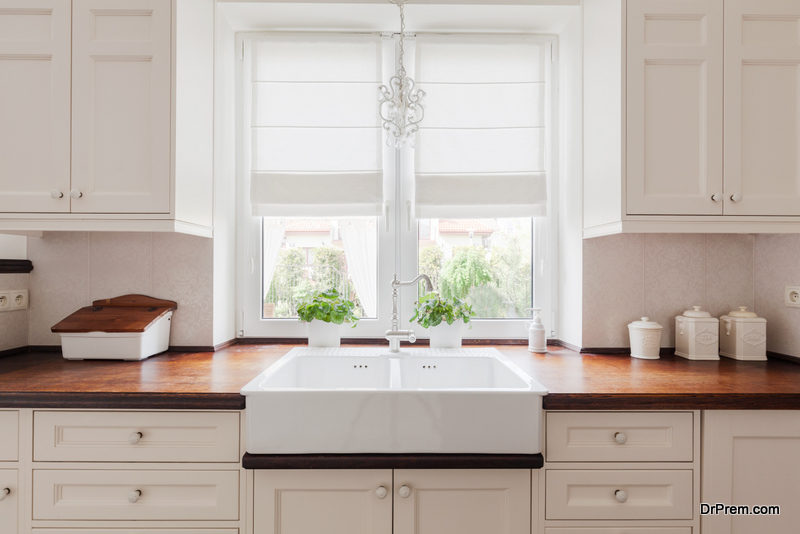 Inspect cabinetry fixtures and finishes