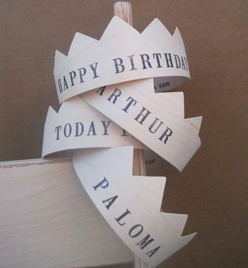 Birthday crowns from newspaper