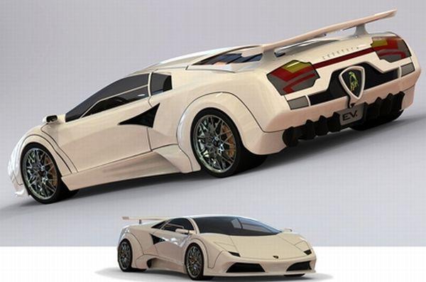 Solar and wind-powered Lamborghini Countach EV