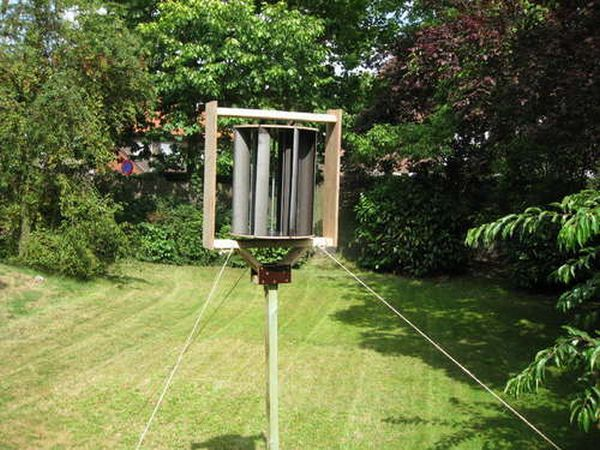 DIY Vertical Axis wind turbine