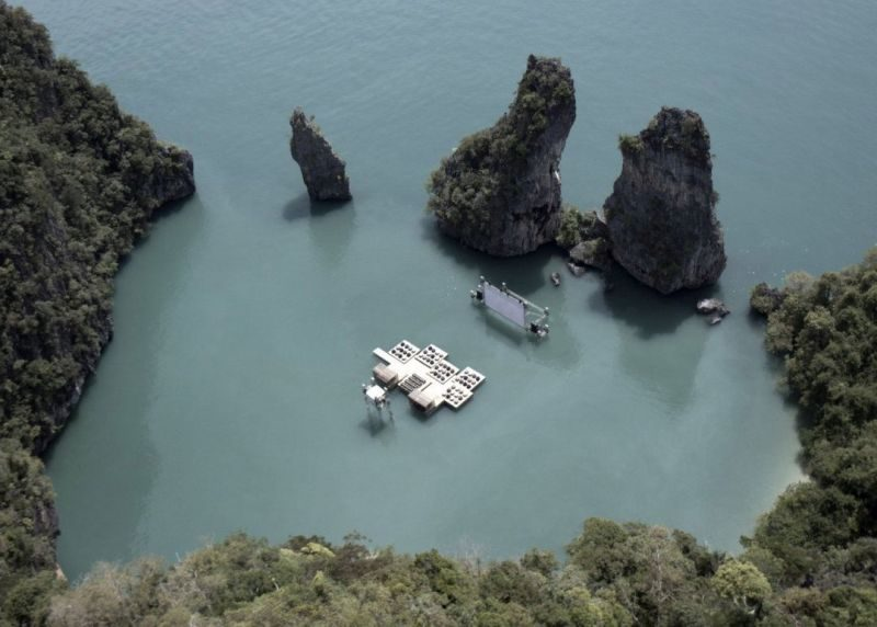 Floating theater, Thailand