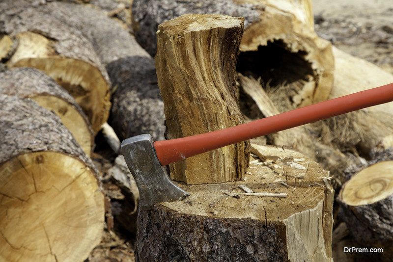 Using local firewood only