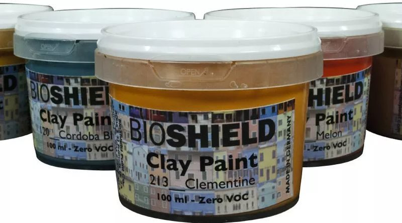 Bioshield has launched paints made from clay,