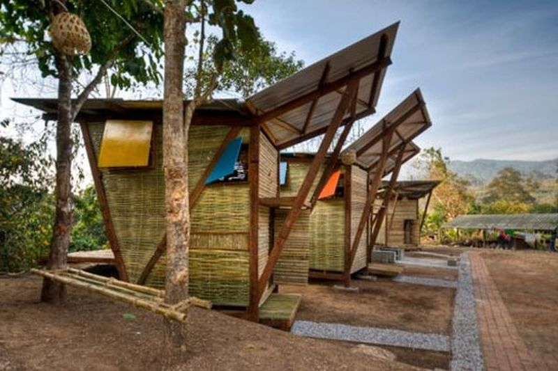 Butterfly bamboo homes