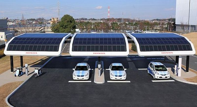 Solar-powered charging stations