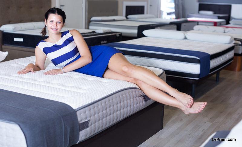 lying on mattress