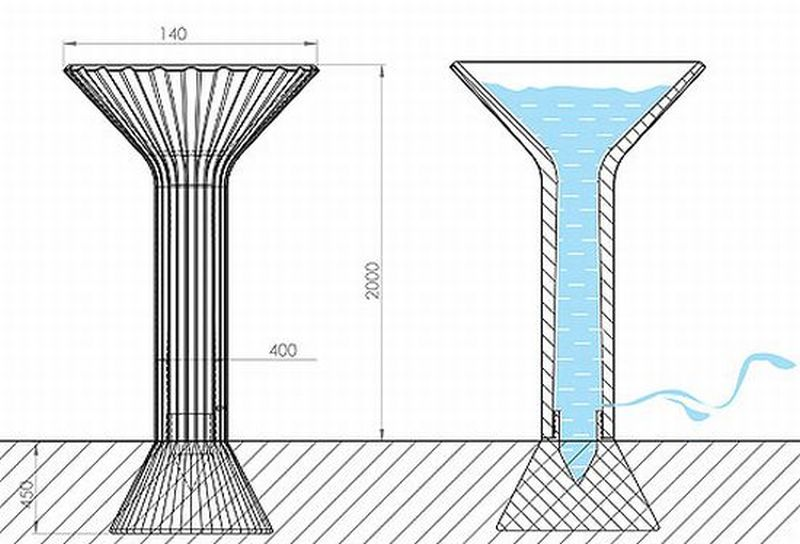 Accumuwater Water Tower collects rainwater for gardening