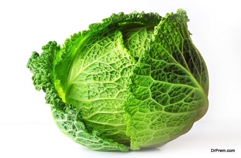 Cabbage lasts for many weeks when kept in cool place