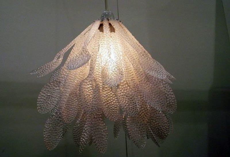 Daisuke Hiraiwa Recycled plastic spoon chandelier