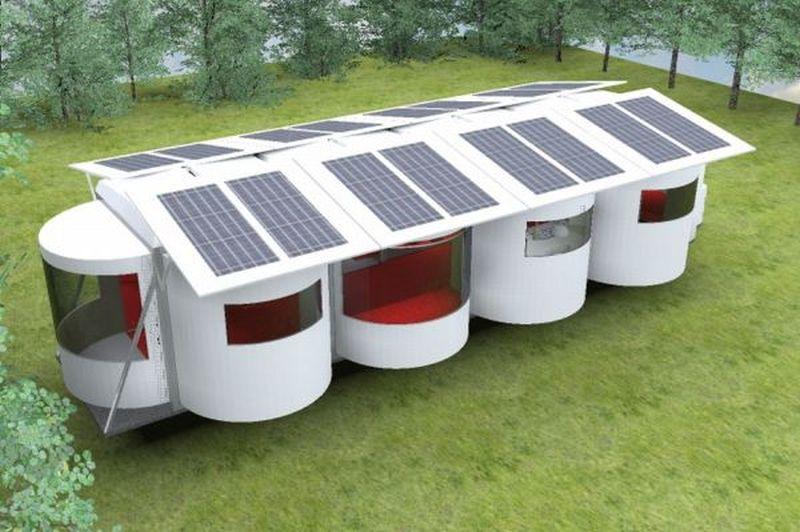 Modular Solar caravan