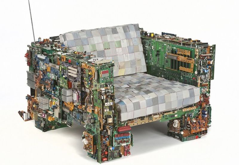 Recycled computer chair