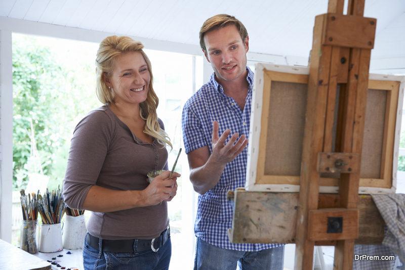 Create an artist studio