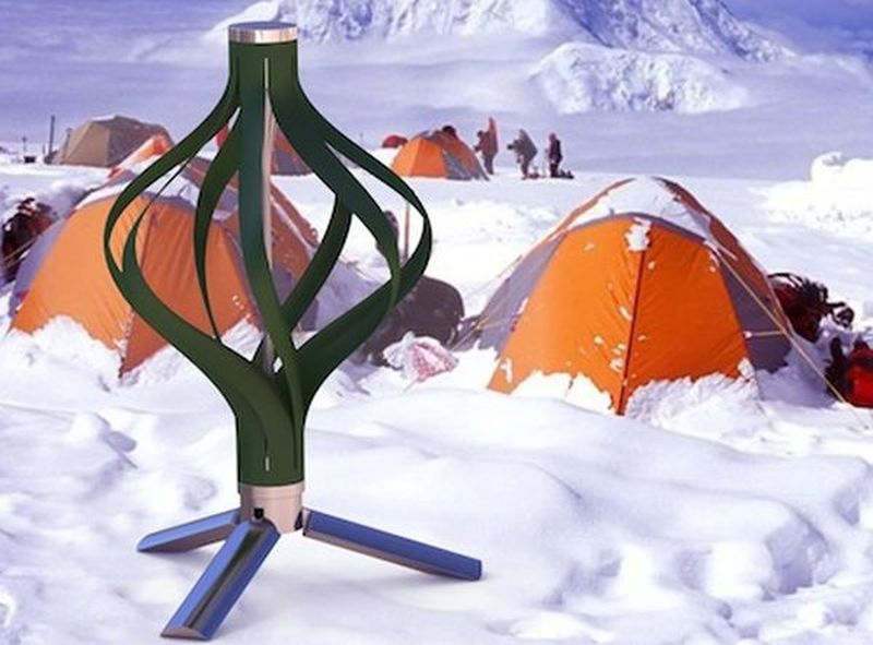 Revolver portable wind turbine