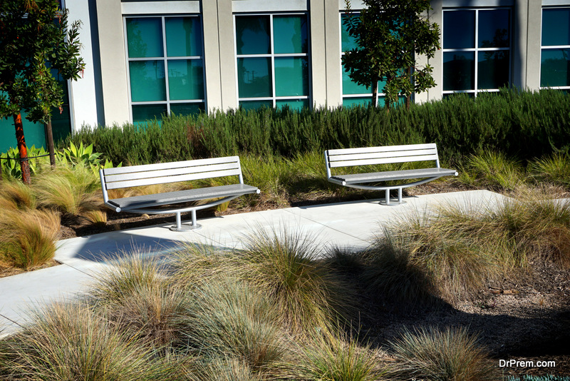business can create an eco-friendly outdoor space