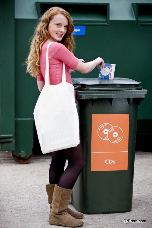 Start recycling, reusing and reducing