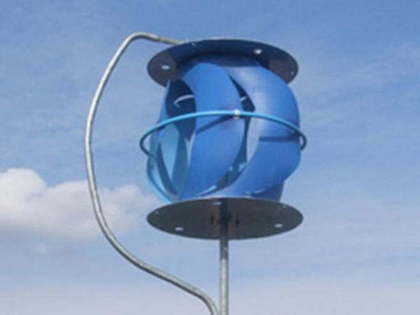 55 Gallon Vertical Axis Wind Turbine