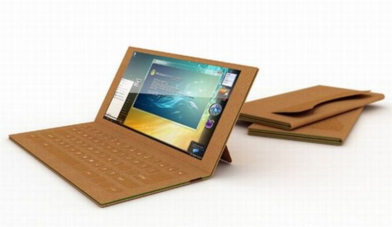 Recyclable paper laptop for green computing
