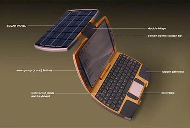 Solar laptop concept by Nikola Knezevic