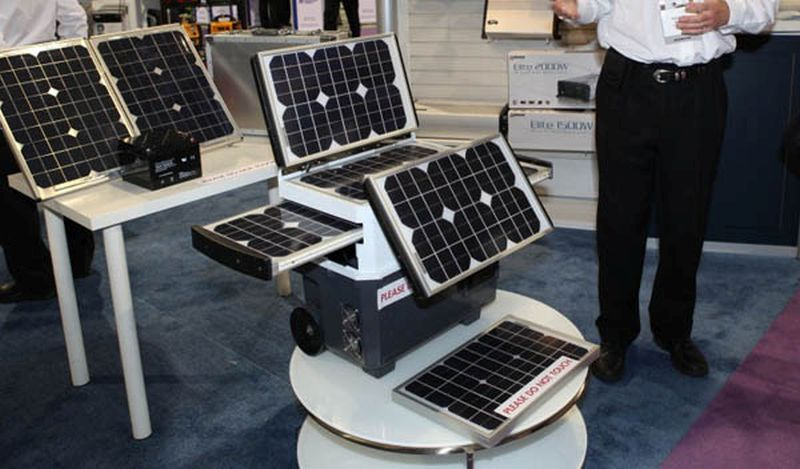 Wagan Tech five paneled solar powered generator