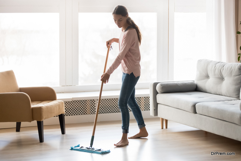 deep cleaning of home