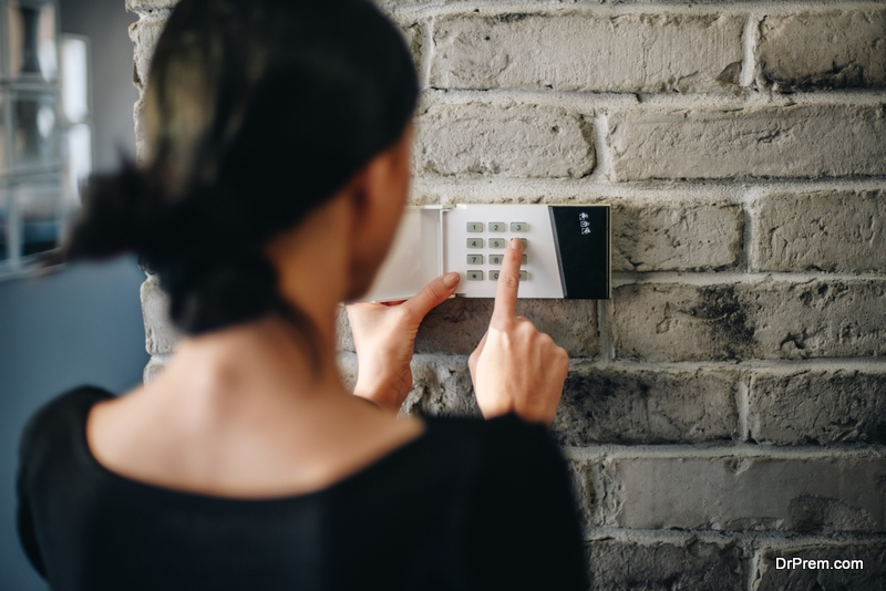 woman-checking-Security-System