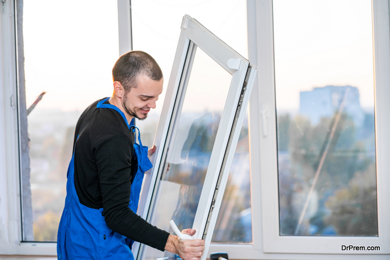 installing insulated glass window