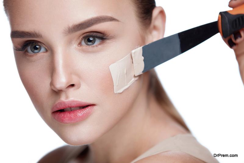 woman applying-makeup