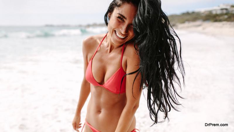 woman in sexy beachwear
