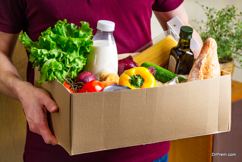 large supply food kits