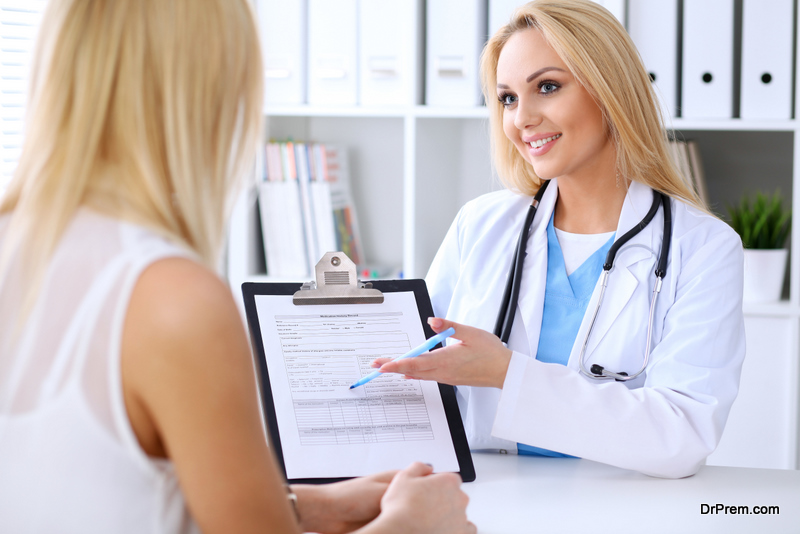 woman talking to her physician